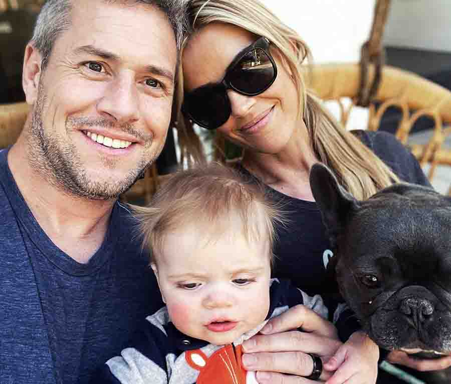 Ant Anstead with his wife, Christina Anstead and son.