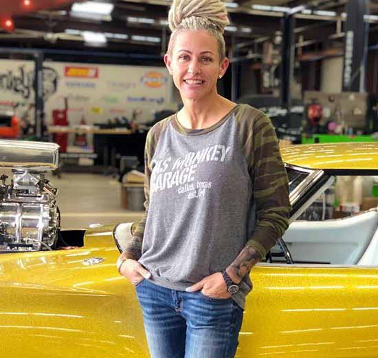Office Manager of Gas Monkey Garage, Christie Brimberry.
