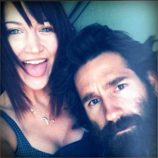 Aaron Kaufman with his ex-girlfriend, Lindsay j.
