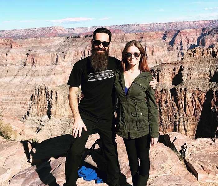 Arron Kaufman and his girlfriend, Lauren Moore Knob.