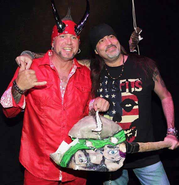 """Image of Michael """"Horny Mike"""" Henry with Danny """"The Count"""" Koker."""